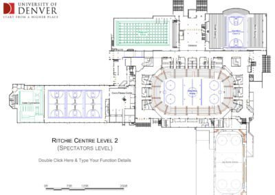 University of Denver floor plan of Ritchie Centre