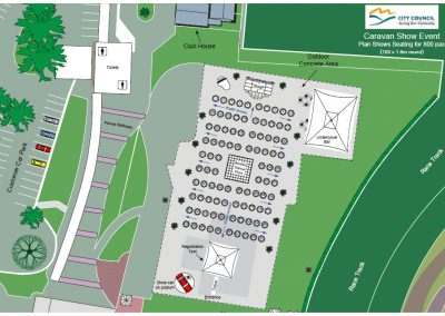 Caravan Show Event Site Map